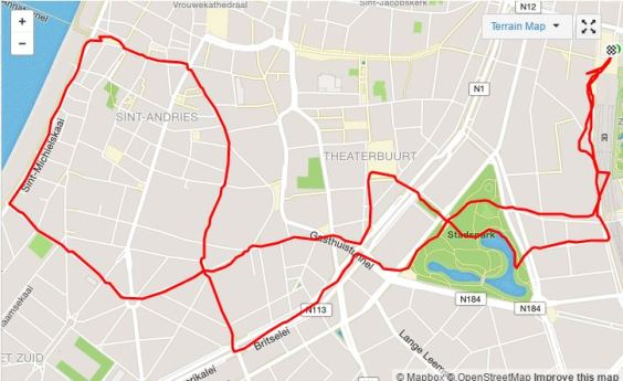 antwerp run map
